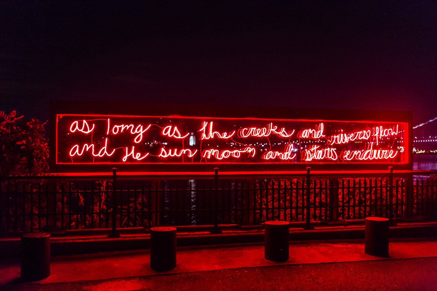 Neon monument to Philly's Indigenous history glows again at Penn Treaty Park