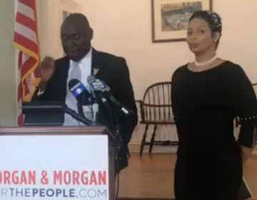 Fleur McKendall (right) is suing the Delaware Dept. of Labor for racial and sexual discrimination. (Screen grab/Morgan & Morgan Law Firm)