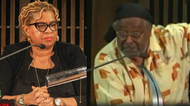 Hanifa Shabazz, (left), violated Dion Wilson's legal right to address City Council, the Attorney General's Office ruled. (City of Wilmington)