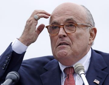 Rudy Giuliani, attorney for President Trump, addresses a campaign event in Portsmouth, N.H., in August 2018. (Charles Krupa/AP)