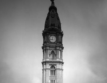 In the early 1900s, people counted on the City Hall clock to keep in sync (PhillyHistory.org)