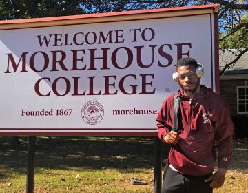 Camden student Elisha Talley this fall at Morehouse College. (Courtesy of Elisha Talley)