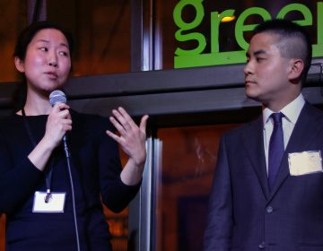 Judy Ni and Oscar Wang introduced the idea for HospitalityTogether at the Full City Challenge in February 2019 (Kait Moore Photography)