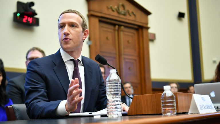 Facebook Chairman and CEO Mark Zuckerberg testifies before the House Financial Services Committee on Wednesday. Two days later, Zuckerberg's social media giant announced it is launching a section of its site specifically dedicated to news. (Mandel Ngan/AFP via Getty Images)