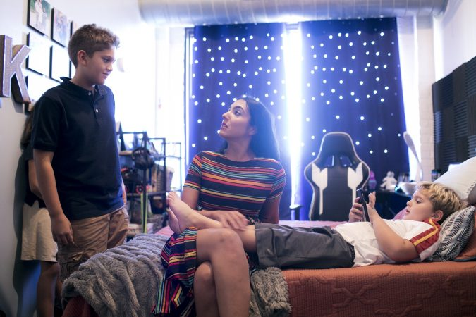 Gisele Fetterman hangs out with sons Karl and August in Karl's room in their Braddock, Pa. home.Sept. 19, 2019. (Sean Simmers/PennLive)