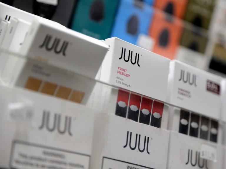 Juul announced it will suspend sales of all non-tobacco, non menthol-based flavors of its e-cigarette products. (Seth Wenig/AP Photo)