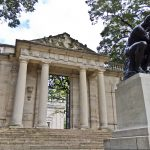 The Meudon Gate at the Rodin museum is a replica of the one at Rodin's estate in the suburb of Paris, Meudon. (Kimberly Paynter/WHYY)