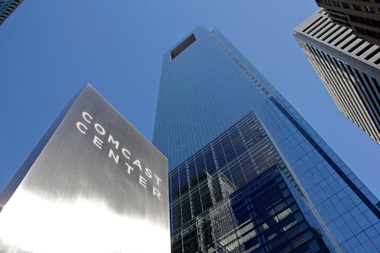 The Comcast Center in Center City Philadelphia. (Emma Lee/WHYY)