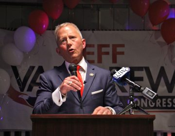 Jeff Van Drew wins the Democratic primary New Jersey's 2nd Congressional District on June 5, 2018. He was one of two Democrats who voted against the presidental impeachment inquiry. (Emma Lee/WHYY)
