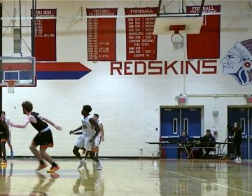 "Neshaminy Redskins basketball team plays at home in January 2019. Thanks to a recent Pennsylvania Human Relations Commission ruling, the team will have get rid of to any logos and imagery ""that negatively stereotype Native Americans,"