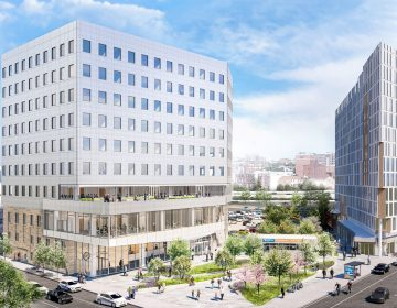 Rendering of the Equal Justice Center near 8th and Vine streets. (Courtesy of Pennrose)