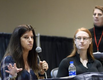 Organizers, active in the suburban cycling community, discuss their grassroots projects during a panel at the Philly Bike Expo on Saturday. (Bastiaan Slabbers for WHYY)