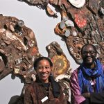 Artists Muhsana Ali and Amadou Kane Sy created
