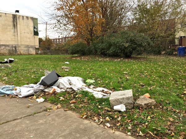 The empty lot in Northeast Philadelphia where Olivia was ultimately found by police on March 7, 2014. (Avi Wolfman-Arent/WHYY)