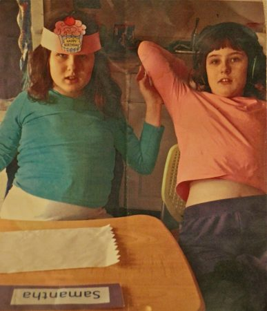 Olivia McCann (right) and her twin sister, Samantha. (Courtesy of the Connolly family)