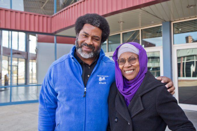 Sharif El-Mekki and his mom Aisha El-Mekki. (Kimberly Paynter/WHYY)