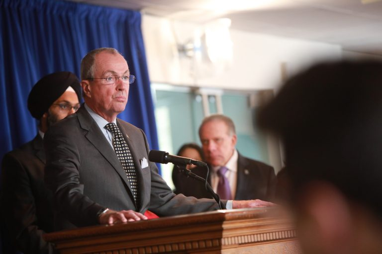 Governor Phil Murphy announces recommendations from the Criminal Sentencing and Disposition Commission in Trenton on November 14, 2019. Edwin J. Torres/Governor's Office)