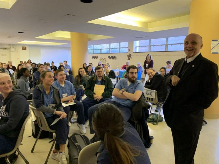 La Salle University nursing students and community leaders took part in a daylong poverty simulation to better understand the needs of the future patients they intend to serve. (Courtesy of La Salle University)