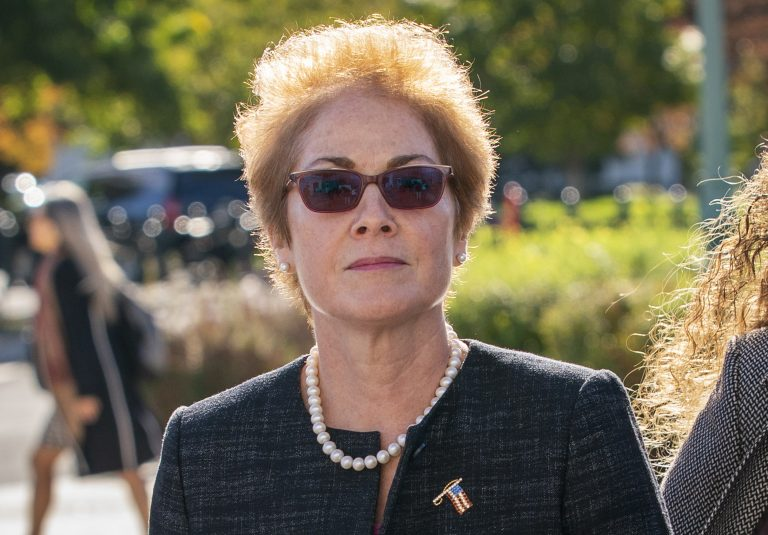 Former U.S. ambassador to Ukraine Marie Yovanovitch, arrives on Capitol Hill, Friday, Oct. 11, 2019, in Washington, as she is scheduled to testify before congressional lawmakers on Friday as part of the House impeachment inquiry into President Donald Trump. (J. Scott Applewhite/AP Photo)
