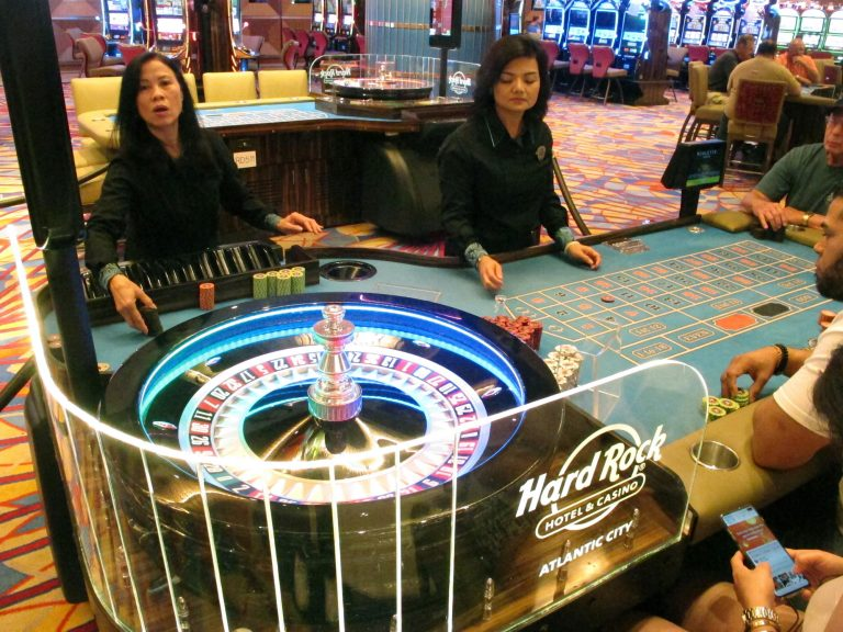 This June 20, 2019 photo shows a game of roulette underway at the Hard Rock casino in Atlantic City N.J. (Wayne Parry/AP Photo)