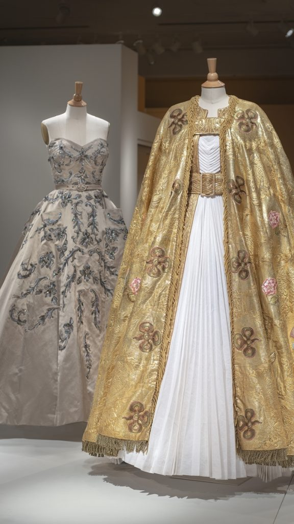 netflix s the crown costumes on display at winterthur museum whyy display at winterthur museum