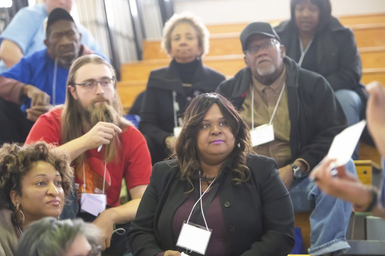An Action Leaders Summit in South Philly focused on how to promote and provide information about the 2020 Census in at-risk neighborhoods and communities. (Jonathan Wilson for WHYY)
