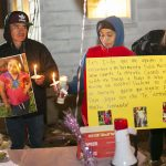A vigil for missing 5-year-old Dulce Maria Alavez is held outside a home in Bridgeton, N.J. on Saturday, November 16, 2019. (Miguel Martinez for WHYY)