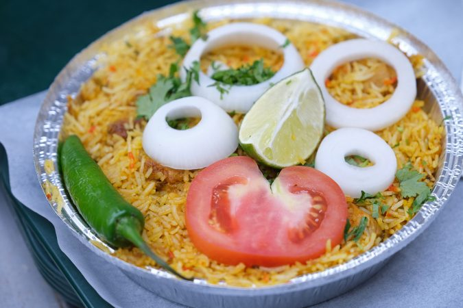 A dish of chicken Biryani at Eat Spice. (Matt Smith for Keystone Crossroads)