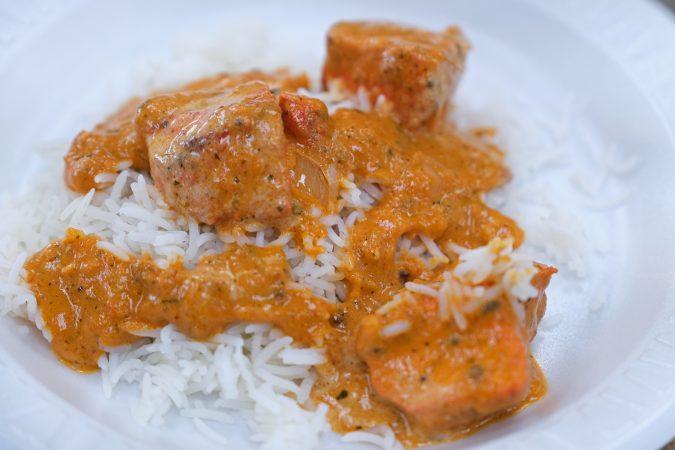 Chicken Tikka Masala at Eat Spice in Luzerne County. (Matt Smith for Keystone Crossroads)