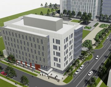An artist's conception drawing shows the $36 million FinTech hub building planned for the University of Delaware's STAR Campus in Newark. (Courtesy of the University of Delaware)