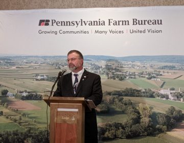 Pennsylvania Farm Bureau President Rick Ebert discusses the changing nature of agriculture during the organization's annual meeting in Hershey on Tuesday, November 19, 2019. (Rachel McDevitt/WITF)