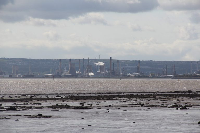 Ships carrying ethane from Pennsylvania sail the Firth of Forth, a river estuary emptying into the North Sea, to Grangemouth. (Reid R. Frazier/StateImpact Pennsylvania)