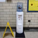 Students now drink from jugs of filtered water at Frederick Douglass Elementary. (Kimberly Paynter/WHYY)