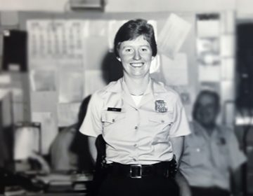 Philadelphia police officer Maureen Rush in 1976 at the 3rd District in South Philadelphia, when she completed police academy training. She then received her permanent assignment to the 25th District in North Philadelphia. (Image courtesy of Rush)
