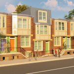 Rendering of the homes from Women's Community Revitalization Project