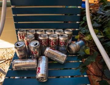 Empty Coors Light beer can