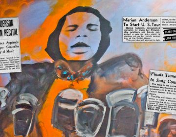 A portrait of Marian Anderson by artist Jeffery McNutt. (Kimberly Paynter/WHYY)
