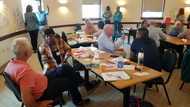 Participants from Adams County and Philadelphia met over six days to discuss criminal justice reforms. (Courtesy Urban Rural Action)