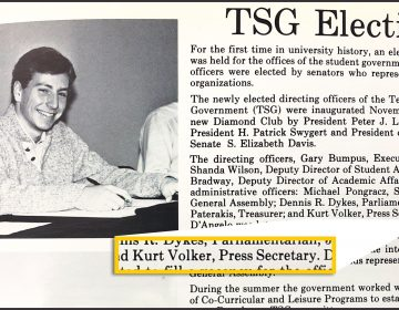 Long before he testified for the impeachment proceedings, former U.S. ambassador Kurt Volker went to Temple. 1984 TEMPLAR YEARBOOK