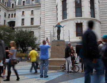 Mel Chin, Two Me, City Hall, Monument Lab, 2017. (Steve Weinik/Mural Arts Philadelphia)