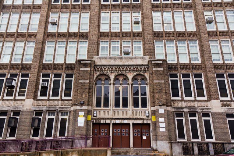 Jules E. Mastbaum High School on Frankford Avenue in Philadelphia. (Kimberly Paynter/WHYY)