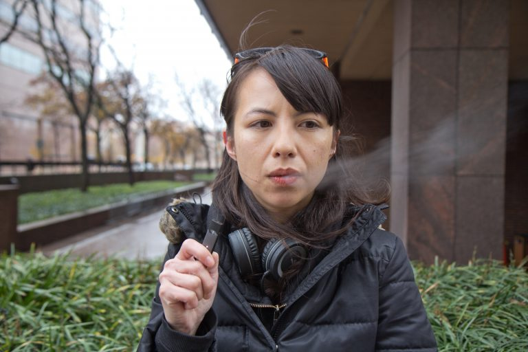 Liz Tung quit smoking with e-cigarettes. (Kim Paynter/WHYY)