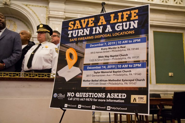 Philadelphia officials and activists are asking parents to do a room check in their homes and turn in any guns they find. (Kimberly Paynter/WHYY)