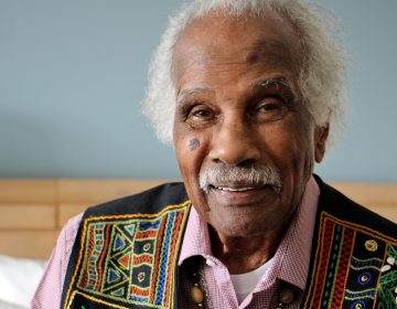 Children's book author and illustrator Ashley Bryan, 96, has donated his papers to the University of Pennsylvania. (Emma Lee/WHYY)