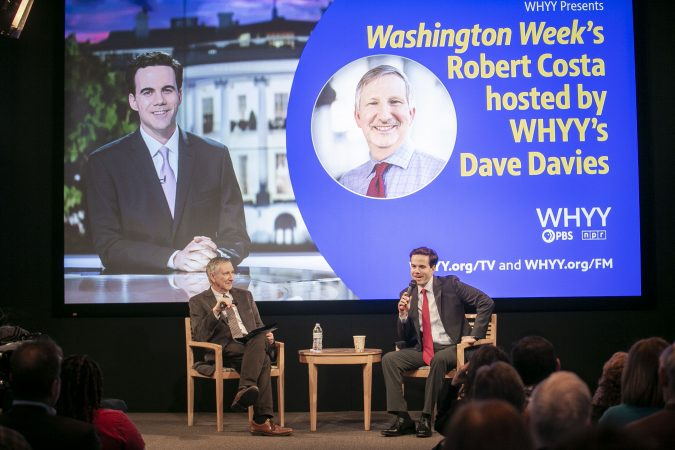 Washington Week and national political reporter for The Washington Post, Robert Costa speaks with Fresh Air's Dave Davies at WHYY.  (Miguel Martinez/WHYY)