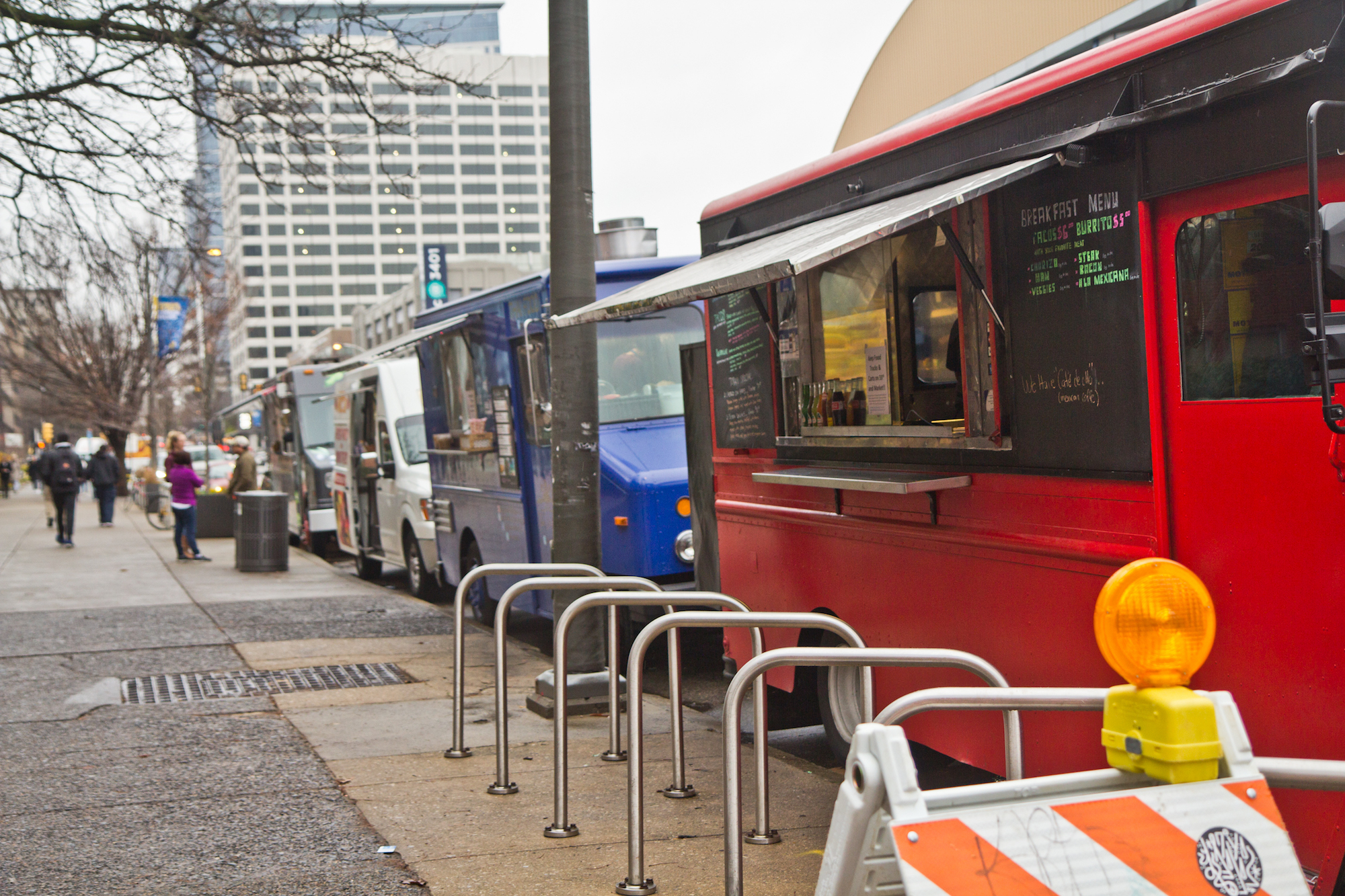 Drexel wants to evict food trucks from a busy block of Market Street