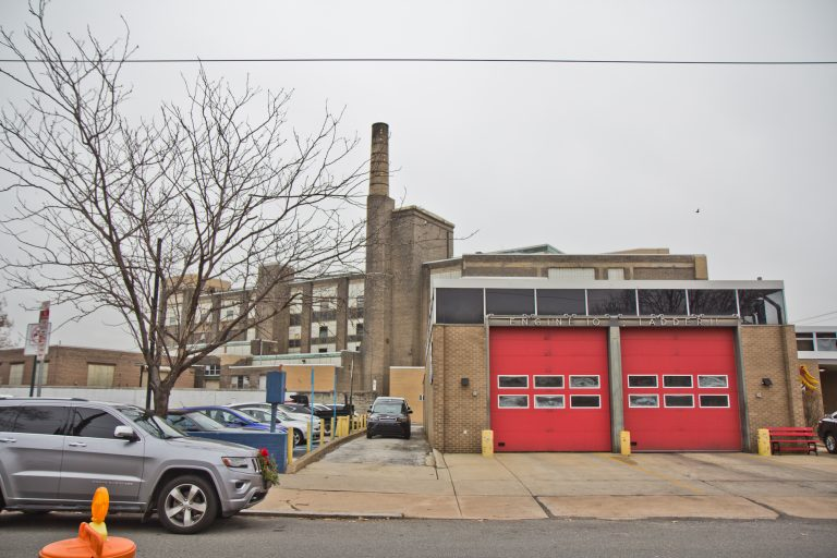 PFD Engine 10 in South Philadelphia will be demolished under a plan to build housing on the city land. (Kimberly Paynter/WHYY)