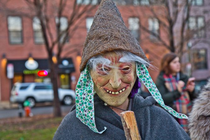 Victoria Young attended the Parade of Spirits to celebrate the time to sit back and ponder, reflect, and look at the darkness in yourself. (Kimberly Paynter/WHYY)