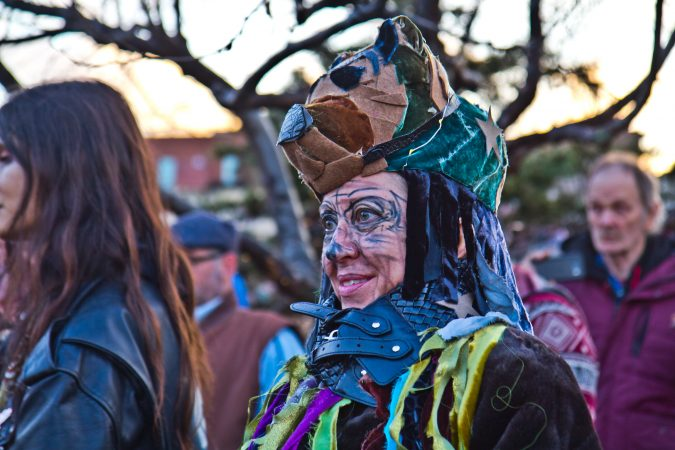 Jeanne Kohl said the Parade of Spirits was an opportunity to get away from your regular self. (Kimberly Paynter/WHYY)
