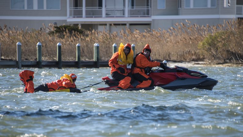 A jet ski rescue during SERE training. (U.S. Air Force photo by Senior Airman Ariel Owings)